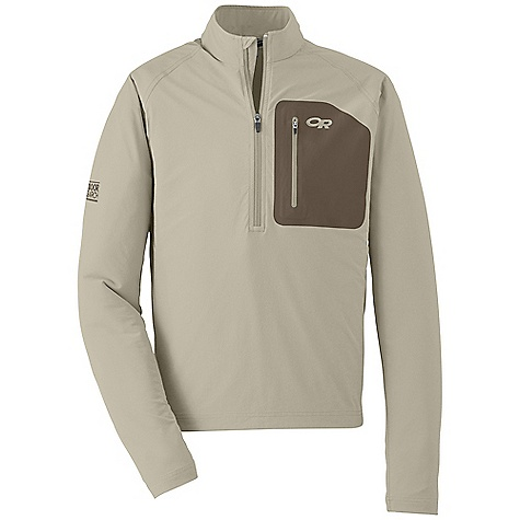 On Sale. Free Shipping. Outdoor Research Men's Ferrosi Windshirt DECENT FEATURES of the Outdoor Research Men's Ferrosi Windshirt Water Resistant Wind Resistant Breathable Lightweight Durable Movement-Mirroring Stretch 1/4-Length Front Zipper Breathable Underarm Stretch Panels Side Zipper for Easy On/Off Polygiene Active Odor Control Zippered Napoleon Pocket Elastic Cuffs DWR Coated Zippers The SPECS Weight: (L): 9.9 oz / 281 g Fit: Standard Center Back Length: 29in. / 77 cm 86% ripstop, 14% spandex body, stretch-woven 100% polyester underarm panels This product can only be shipped within the United States. Please don't hate us. - $58.99