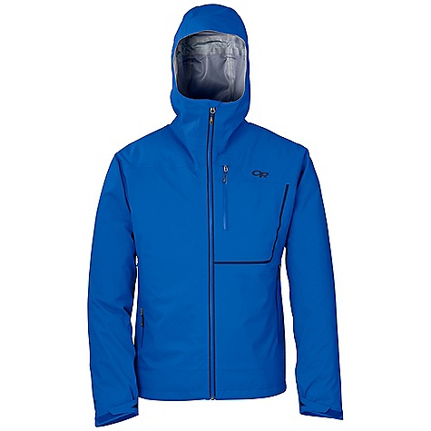 Free Shipping. Outdoor Research Men's Axiom Jacket DECENT FEATURES of the Outdoor Research Men's Axiom Jacket Waterproof Breathable Lightweight Movement-Mirroring Stretch Fully Seam Taped Water-Resistant Zippers Fully Adjustable Hood Fits Over Helmet Single-Separating Front Zipper Internal Front-Zip Stormflap Zippered Napoleon Pocket Two Zippered Hand Pockets Hand Pockets Set Above Hip Belt or Harness Left Hand Pocket Doubles as Stuff Sack Articulated Elbows Hook/Loop Cuff Closures Drawcord Hem The SPECS Weight: (L): 13.5 oz / 382 g Trim Fit Center Back Length: 29in. / 74 cm Gore-Tex Active 3L, 100% nylon 20D This product can only be shipped within the United States. Please don't hate us. - $374.95