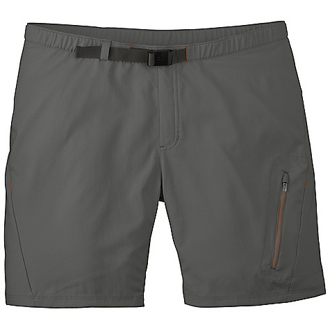 On Sale. Free Shipping. Outdoor Research Men's Nobo Short DECENT FEATURES of the Outdoor Research Men's Nobo Short Quick Drying Breathable Lightweight Movement-Mirroring Stretch Adjustable Belt Elastic Waistband Zippered Pockets Rear Pocket Zippered Thigh Pocket Gusseted Crotch The SPECS Weight: (L): 5.5 oz / 156 g Fit: Standard Inseam: 8in. / 20 cm 100% Polyester This product can only be shipped within the United States. Please don't hate us. - $40.99