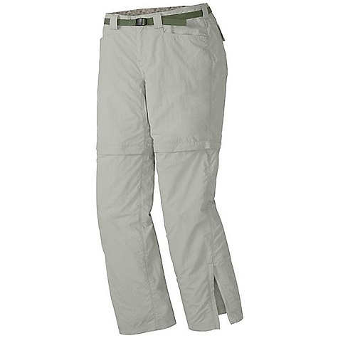 Free Shipping. Outdoor Research Women's Solitaire Convertible Pant DECENT FEATURES of the Outdoor Research Women's Solitaire Convertible Pant Water Resistant DWR Finish Quick Drying Breathable Zip-Off Legs Different Zipper Colors for Each Zip-Off Leg SolarShield Construction UPF 50+ Belt Loops Snap and Zipper Fly Adjustable Belt Front Slash Pockets Gusseted Crotch Ankle Zippers Drawcord Ankle Adjustments Grommets for Instep Lace The SPECS Weight: 9.1 oz / 259 g Fit: Standard Inseam: 30 1/2in. / 77 cm Shorts: 8in. / 20 cm 100% Supplex nylon This product can only be shipped within the United States. Please don't hate us. - $78.95