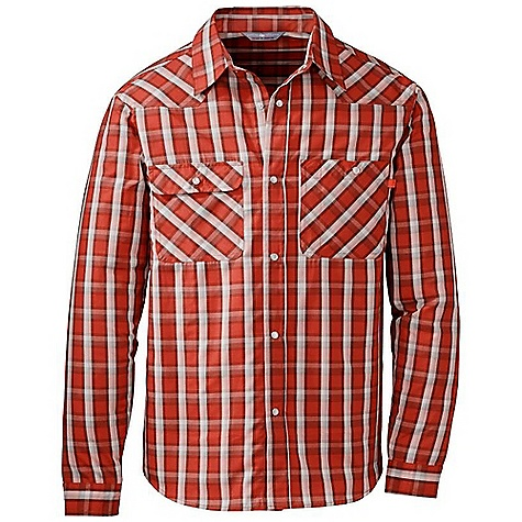 On Sale. Free Shipping. Outdoor Research Men's Tempo Shirt DECENT FEATURES of the Outdoor Research Men's Tempo Shirt Light weight Quick drying Wicking Dri-release woven fabric manages moisture Front snap closure Fresh Guard odor neutralization Chest pockets with snap closure Standard fit Curved hem The SPECS Weight: (L): 8.9 oz / 253 g Fit: Standard Center Back Length: 30 1/4in. / 77 cm Fabric: 85% polyester / 15% Cotton yarn dye woven plaid This product can only be shipped within the United States. Please don't hate us. - $43.99