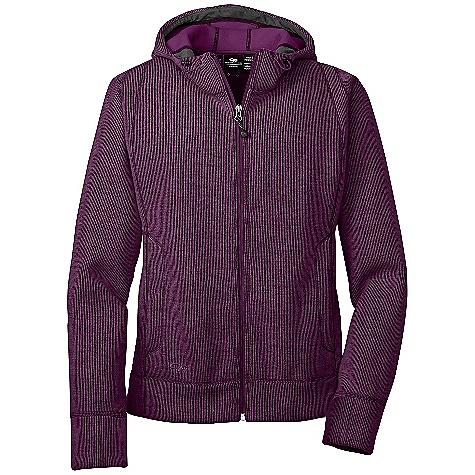 The Outdoor Research Women's Salida Hoody. Sweater-style, fleecy mid or outer-layer for warmth in blustery conditions. Features of the Outdoor Research Women's Salida Hoody Quick Drying Wicking Full Center Front Zipper Internal Front-Zip Stormflap Adjustable Hood Dual Handwarmer Pockets Internal Media Pocket - $145.00