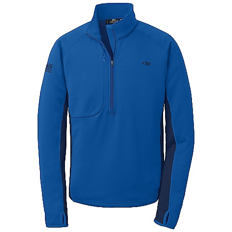 Free Shipping. Outdoor Research Men's Radiant Hybrid Pullover FEATURES of the Outdoor Research Men's Radiant Hybrid Pullover Hybrid Mapped Construction Breathable Hybrid Construction Polygiene Active Odor Control 1/2-Length Front Zipper Zippered Napoleon Pocket Thumb Loops Stretch Binding at Cuffs - $90.00
