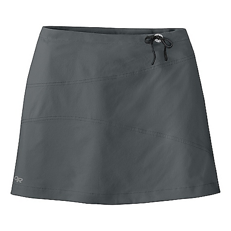 Features of the Outdoor Research Women's Expressa Skort Lightweight Quick-drying Drawcord Stretch inner short with security pocket Standard Fit - $60.00