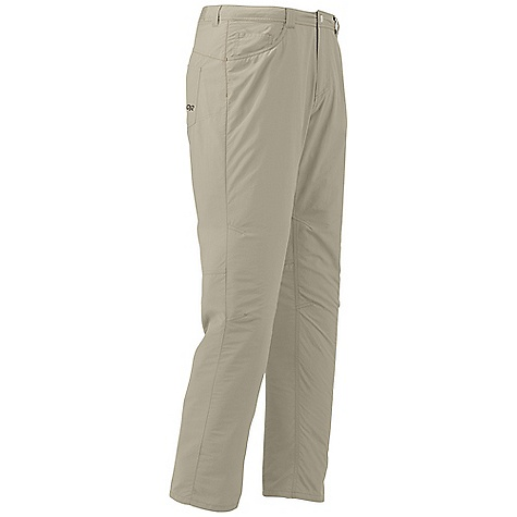 Free Shipping. Outdoor Research Men's Treadway Pant DECENT FEATURES of the Outdoor Research Men's Treadway Pant DWR Finish Quick Drying Breathable Lightweight SolarShield Construction UPF 50+ Belt Loops Snap and Zipper Fly Front Slash Pockets Back Patch Pockets Articulated Knees The SPECS Weight: (L): 7.4 oz / 209 g Fit: Standard Inseam: 32in. / 81 cm 100% Supplex nylon This product can only be shipped within the United States. Please don't hate us. - $68.95