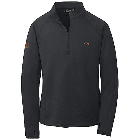On Sale. Free Shipping. Outdoor Research Men's Radiant LT Zip Top DECENT FEATURES of the Outdoor Research Men's Radiant LT Zip Top Polygiene active odor control 1/4 length front zipper Flat lock stitching Wrap-around side panels Lycra thumb loops and cuffs Articulated elbows The SPECS Weight: (L): 12.2 oz / 346 g Fit: Trim Center Back Length: 27 3/4in. / 71 cm Fabric: Radiant LT Fleece: 95% polyester, 5% spandex This product can only be shipped within the United States. Please don't hate us. - $66.99