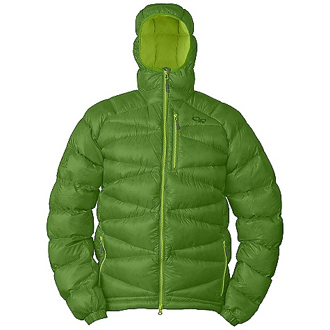 Features of the Outdoor Research Men's Incandescent Hoody Water Resistant Lightweight Breathable Fully Adjustable Hood Double-Separating Front Zipper Internal Front Zip Stormflap Zippered Napoleon Pocket Two Zippered Hand Pockets Left Hand Pocket Doubles as Stuff Sack Stretch Binding at Cuffs Drawcord Hem - $350.00