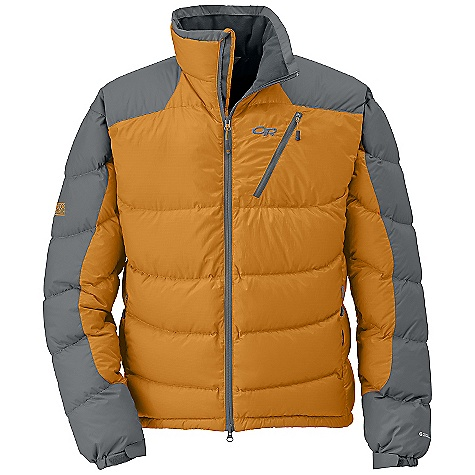 On Sale. Free Shipping. Outdoor Research Men's Virtuoso Jacket DECENT FEATURES of the Outdoor Research Men's Virtuoso Jacket Water Resistant Wind Resistant Lightweight Breathable Brushed Tricot-Lined Collar Double Separating Front Zipper Internal Front Zip Stormflap Zippered Napoleon Pocket Two Zippered Hand Pockets Right Hand Pocket Doubles as Stuff Sack Internal Shove-It Pockets Hook/Loop Cuff Closures Stretch Binding at Cuffs Drawcord Hem The SPECS Weight: (L): 19.9 oz / 565 g Standard Fit Center Back Length: 30 1/2in. / 75 cm Pertex Endurance 100% nylon, 30D shoulders and arms 100% polyester 20D Ripstop body 650 Down Fill insulation 44D 100% nylon lining This product can only be shipped within the United States. Please don't hate us. - $145.99