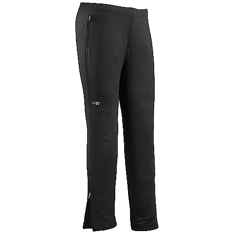Free Shipping. Outdoor Research Men's Centrifuge Pants DECENT FEATURES of the Outdoor Research Men's Centrifuge Pants Wind resistant Weather resistant Laminated fleece front leg panels Air-permeable Radiant LT Fleece back leg panels and back yoke Polygiene active odor control Flat lock stitching Drawcord waist Two zippered waist pockets The SPECS Weight: (L): 13.3 oz / 378 g Fit: Standard Inseam: 32in. / 81 cm Fabric: 100% polyester, 2-layer 30D front and upper back leg panels Radiant LT Fleece: 95% polyester / 5% spandex lower back leg panels, back yoke This product can only be shipped within the United States. Please don't hate us. - $109.95