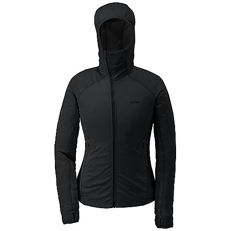 On Sale. Free Shipping. Outdoor Research Women's Centrifuge Jacket DECENT FEATURES of the Outdoor Research Women's Centrifuge Jacket Hybrid Mapped Construction Weather Resistant Wind Resistant Breathable Quick Drying Hybrid Construction Polygiene Active Odor Control Balaclava-Style Hood Offset Center-Front Zipper Two Hand Pockets Thumb Loops Stretch Bindings on Thumbs and Cuffs The SPECS Weight: (M): 11.0 oz / 313 g Trim Fit Center Back Length: 25 1/2in. / 64 cm 100% polyester 2L, 30D front body and sleeves Radiant LT Fleece: 95% polyester, 5% spandex back, sides and underarms This product can only be shipped within the United States. Please don't hate us. - $86.99