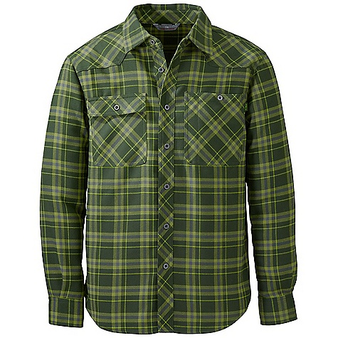 Free Shipping. Outdoor Research Men's Feedback Flannel Shirt DECENT FEATURES of the Outdoor Research Men's Feedback Flannel Shirt Quick drying Wicking Front button closure Chest pockets with button closure Standard fit Curved hem The SPECS Weight: (L): 13.0 oz / 369 g Fit: Standard Center Back Length: 30 1/4in. / 77 cm Fabric: 100% polyester yarn dye woven plaid, 2 sides brushed This product can only be shipped within the United States. Please don't hate us. - $79.00