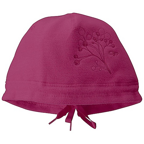 Entertainment On Sale. Outdoor Research Women's Siren Hat DECENT FEATURES of the Outdoor Research Women's Siren Hat Close fit OR in.snowy treein. embroidery Satin elastic ties Designed to accommodate a ponytail The SPECS Weight: 1.7 oz / 49 g Fabric: 95% polyester 5% spandex Reversed Radiant Fleece This product can only be shipped within the United States. Please don't hate us. - $21.99