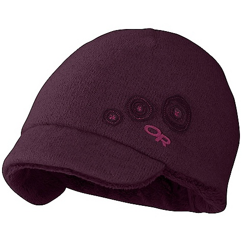On Sale. Outdoor Research Women's Yurt Cap DECENT FEATURES of the Outdoor Research Women's Yurt Cap Short brim OR snowball applique and embroidery The SPECS Weight: 3.1 oz / 89 g Fabric: 100% sweater-knit polyester Posh Pile fleece lining This product can only be shipped within the United States. Please don't hate us. - $26.99