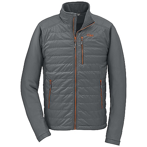 On Sale. Free Shipping. Outdoor Research Men's Acetylene Jacket DECENT FEATURES of the Outdoor Research Men's Acetylene Jacket Hybrid Mapped Construction Water Resistant Breathable Internal Front Zip Stormflap Zippered Napoleon Pocket Two Zippered Hand Pockets Thumb Loops Stretch Binding at Cuffs Drawcord Hem The SPECS Weight: (M): 14.7 oz / 416 g Trim Fit Center Back Length: 28 3/4in. / 73 cm 100% polyester, 20D ripstop face Radiant LT Fleece 95% polyester, 5% spandex back and sleeves PrimaLoft Eco insulation This product can only be shipped within the United States. Please don't hate us. - $96.99