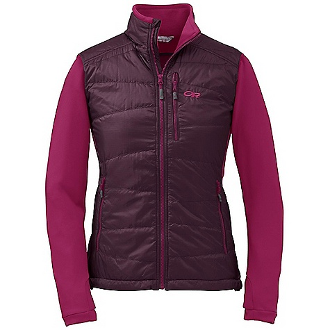 Free Shipping. Outdoor Research Women's Acetylene Jacket DECENT FEATURES of the Outdoor Research Women's Acetylene Jacket Hybrid Mapped Construction Wind Resistant Breathable Quick Drying Hybrid Construction Polygiene Active Odor Control Zippered Napoleon Pocket Two Zippered Hand Pockets Thumb Loops Drawcord Hem The SPECS Weight: (M): 13.0 oz / 368 g Trim Fit Center Back Length: 27 1/2in. / 70 cm 100% polyester, 20D ripstop face Radiant FL, Fleece 95% polyester, 5% spandex back and sleeves PrimaLoft Eco 100% insulation This product can only be shipped within the United States. Please don't hate us. - $149.95