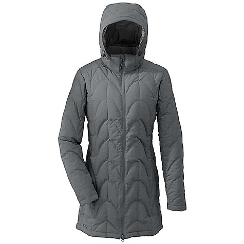 Free Shipping. Outdoor Research Women's Aria Storm Parka DECENT FEATURES of the Outdoor Research Women's Aria Storm Parka 650+ fill down insulation Ultralight shell Adjustable and removable hood Internal front zip storm flap Multiple pockets: handwarmer, internal Right handwarmer pocket doubles as stuff sack Elastic cuffs Drawcord hem The SPECS Weight: (M): 21.5 oz / 608 g Fit: Standard Center Back Length: 34 3/4in. / 88 cm Fabric: 68% polyester / 32% nylon, 2-layer 75D Pertex Shield, shell; 100% nylon lining This product can only be shipped within the United States. Please don't hate us. - $274.95