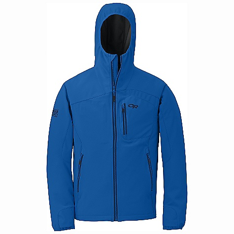On Sale. Free Shipping. Outdoor Research Men's Salvo Jacket DECENT FEATURES of the Outdoor Research Men's Salvo Jacket Windproof Highly breathable Water resistant Gore Windstopper X-Fast construction Front zipper with internal storm flap Zippered napoleon pocket Zippered internal pocket Two zippered hand pockets Thumb loops on cuffs Elastic cuffs Drawcord hem The SPECS Weight: (L): 23.5 oz / 666 g Fit: Trim Center Back Length: 29 1/2in. / 75 cm Fabric: 100% polyester, 3-layer Gore Windstopper Soft Shell This product can only be shipped within the United States. Please don't hate us. - $154.99