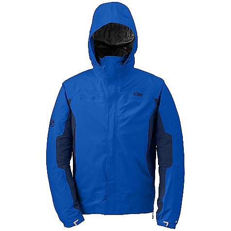 On Sale. Free Shipping. Outdoor Research Men's Revel Trio Jacket DECENT FEATURES of the Outdoor Research Men's Revel Trio Jacket Waterproof Breathable Fully Seam Taped Water-Resistant Zippers Adjustable Hood Zips into Collar Double-Separating Front Zipper External Front-Zip Stormflap Double-Sliding TorsoFlo Hem-To-Bicep Zippers Zippered Internal Pocket Two Zippered Hand Pockets Left Hand Pocket Doubles as Stuff Sack Elastic Cuffs Drawcord Hem Water Resistant Wind Resistant Brushed-Tricot-Lined Collar Internal Front-Zip Stormflap Elastic Cuffs The SPECS Weight: (L): 30.9 oz / 876 g Standard Fit Center Back Length: 29 1/2in. / 75 cm Shell: Pertex Shield DS 2.5L, 100% nylon 400 stretch shell Insulated Liner: 100% nylon ripstop, 30D Thermore 80g insulation This product can only be shipped within the United States. Please don't hate us. - $178.99