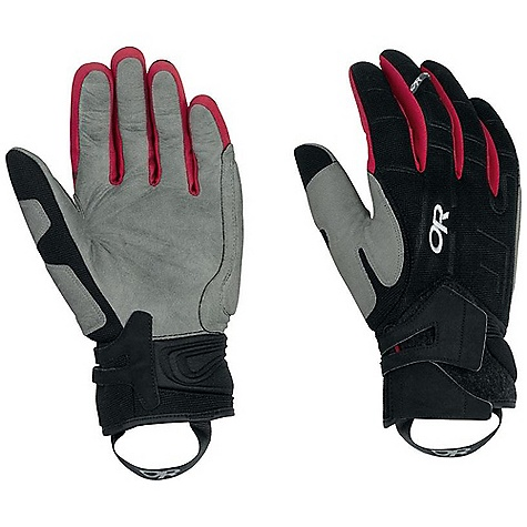 On Sale. Free Shipping. Outdoor Research Alibi II Glove DECENT FEATURES of the Outdoor Research Alibi II Glove Double leather cuff closure Thermo-formed neoprene, articulating wrist harness Corded nylon on back of hand for durability Movement enhancing stretch Soft shell finger sidewalls for stretch and dexterity Pittards Oiltac leather palm for enhanced grip and optimum control in wet or dry conditions Leather treated to prevent absorption of moisture Protective gel padding on outside edge of hand Carabiner loop on back of hand The SPECS Weight: (L): 5.3 oz / 151 g Fabric: Four-way stretch-woven nylon with coating and stretch corded nylon shell Pittards Oiltac leather palm This product can only be shipped within the United States. Please don't hate us. - $62.99