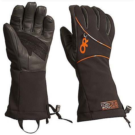 On Sale. Free Shipping. Outdoor Research Men's Luminary Gloves DECENT FEATURES of the Outdoor Research Men's Luminary Gloves Water Resistant Windproof Breathable Wicking Quick Drying Ultra Tactile Removable Liner Soft and Tactile Leather Palm Leather Overlays on Palm for Durability 100-Weight Fleece Removable Liner Microfleece Lined Shell Pre-Curved Construction SuperCinch gauntlet Closure Removable Idiot Cord Back of Hand Carabiner Loop Nose Wipe on Thumb Pull Loop The SPECS Weight: (L, per pair): 8.3 oz / 234 g Comfort Range: 0/20deg F / -17/-7deg C Windstopper Soft Shell 94% nylon, 6% elastane fabric 100% goat leather palm and fingers 100% polyester fleece removable liner Windstopper Modular Leather Palm This product can only be shipped within the United States. Please don't hate us. - $58.99