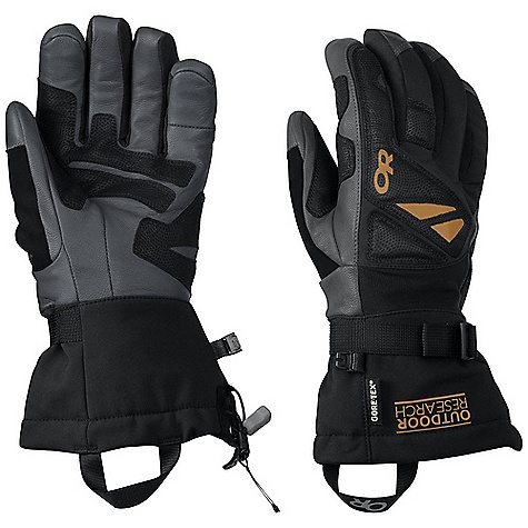 Ski Free Shipping. Outdoor Research Men's Northback Glove DECENT FEATURES of the Outdoor Research Men's Northback Glove EnduraLoft insulation: 266g on back of hand; 133g on palm Tricot lining Leather palm; wraps around fingertips and thumb and finger sidewalls Reinforced leather panel across pole-strap path FlexAction wrist articulation matches the natural, active-hand position while skiing Ladder-lock wrist cinch Soft nose wipe on thumb SuperCinch gauntlet closure Removable Idiot Cord EVA foam panels on back of hand The SPECS Weight: (L, per pair) 9.0 oz / 254 g Fabric: Waterproof/breathable Gore-Tex insert Durable, water-resistant nylon across back of hand and gauntlet Nylon woven fabric between ngers and across back of hand for added dexterity This product can only be shipped within the United States. Please don't hate us. - $98.95