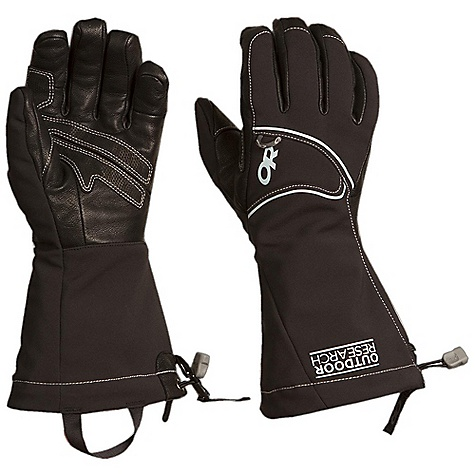 On Sale. Free Shipping. Outdoor Research Women's Luminary Gloves DECENT FEATURES of the Outdoor Research Women's Luminary Gloves Water Resistant Windproof Breathable Wicking Quick Drying Ultra Tactile Removable Liner Soft and Tactile Leather Palm Leather Overlays on Palm for Durability 100-Weight Fleece Removable Liner Microfleece Lined Shell Pre-Curved Construction SuperCinch gauntlet Closure Removable Idiot Cord Back of Hand Carabiner Loop Nose Wipe on Thumb Pull Loop The SPECS Weight: (M, per pair): 7.2 oz / 204 g Comfort Range: 0/20deg F / -17/-7deg C Windstopper Soft Shell 94% nylon, 6% elastane fabric 100% goat leather palm and fingers 100% polyester fleece removable liner Windstopper Modular Leather Palm This product can only be shipped within the United States. Please don't hate us. - $58.99