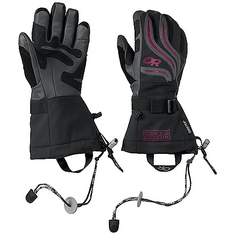 Ski Free Shipping. Outdoor Research Women's Northback Glove DECENT FEATURES of the Outdoor Research Women's Northback Glove EnduraLoft insulation: 266g on back of hand; 133g on palm Tricot lining Leather palm; wraps around fingertips and thumb and finger sidewalls Reinforced leather panel across pole-strap path FlexAction wrist articulation matches the natural, active-hand position while skiing Ladder-lock wrist cinch Soft nose wipe on thumb SuperCinch gauntlet closure Removable Idiot Cord The SPECS Weight: (M, per pair) 7.3 oz / 208 g Fabric: Waterproof/breathable Gore-Tex insert Durable, water-resistant nylon across back of hand and gauntlet Nylon woven fabric between ngers and across back of hand for added dexterity This product can only be shipped within the United States. Please don't hate us. - $98.95
