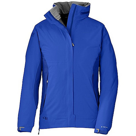 On Sale. Free Shipping. Outdoor Research Women's Reflexa Trio Jacket DECENT FEATURES of the Outdoor Research Women's Reflexa Trio Jacket Shell: Waterproof Windproof Breathable Fully seam taped Water-resistant zippers Adjustable hood folds into collar Double-separating front zipper External front zip storm flap Double sliding TorsoFlo hem-to-bicep zippers Zippered Internal pocket Two zippered hand pockets Left hand pocket doubles as stuff sack Elastic cuffs Drawcord hem The SPECS Weight: (M): 25.7 oz / 727 g Standard Fit Center Back Length: 27 1/4in. / 69 cm Shell: Pertex Shield DS 2.5L, 100% nylon 40D stretch shell Insulated Liner: 100% nylon ripstop, 30D Thermore 80g insulation This product can only be shipped within the United States. Please don't hate us. - $238.99