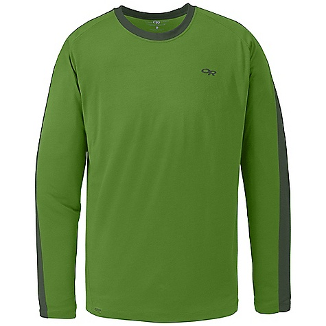 Free Shipping. Outdoor Research Men's Sequence L-S Crew DECENT FEATURES of the Outdoor Research Men's Sequence Long Sleeve Crew Lightweight Breathable Quick Drying Fresh Guard Odor Neutralization Raglan Sleeves The SPECS Weight: (L): 7.8 oz / 222 g Trim Fit Center Back Length: 28 3/4in. / 73 cm Drirelease Wool: 88% polyester, 12% merino wool This product can only be shipped within the United States. Please don't hate us. - $59.95