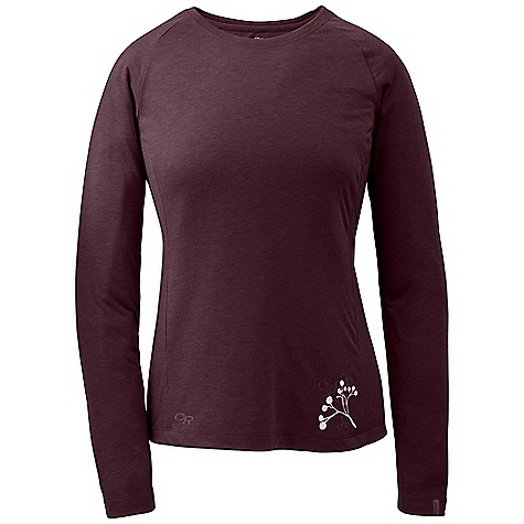 On Sale. Free Shipping. Outdoor Research Women's Essence L-S Crew DECENT FEATURES of the Outdoor Research Women's Essence Long Sleeve Crew Lightweight Quick drying Manages moisture FreshGuard odor neutralization Raglan sleeves The SPECS Weight: (M): 5.0 oz / 142 g Fit: Trim Center Back Length: 25in. / 64 cm Fabric: 88% polyester / 12% merino wool This product can only be shipped within the United States. Please don't hate us. - $40.99