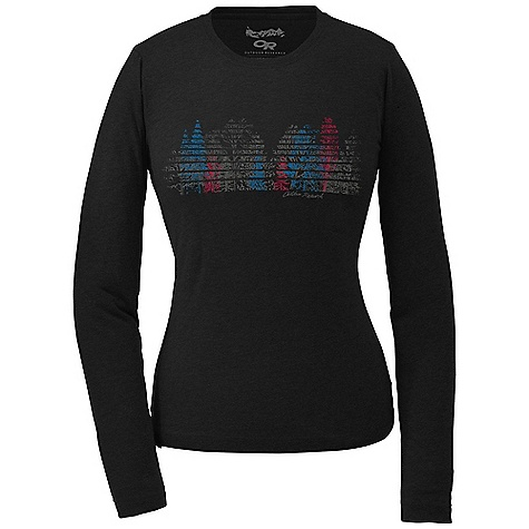 On Sale. Outdoor Research Women's Winter Woodland L-S Tech Tee DECENT FEATURES of the Outdoor Research Women's Winter Woodland Long Sleeve Tech Tee Lightweight Quick drying and wicking Drirelease fabric manages moisture FreshGuard odor neutralization The SPECS Weight: (M): 6.8 oz / 192 g Fit: Standard Fabric: Drirelease fabric: 85% polyester / 15% cotton This product can only be shipped within the United States. Please don't hate us. - $22.99