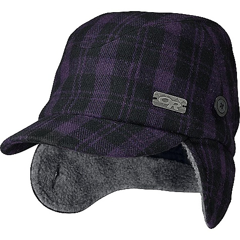 Outdoor Research Women's Yukon Cap DECENT FEATURES of the Outdoor Research Women's Yukon Cap Fold-Up Ear Flaps with Button Attachment OR Logo Badge The SPECS Weight: 4.5 oz / 127 g 68% polyester, 26% acrylic, 6% wool 100% polyester sherpa-pile lining This product can only be shipped within the United States. Please don't hate us. - $37.95