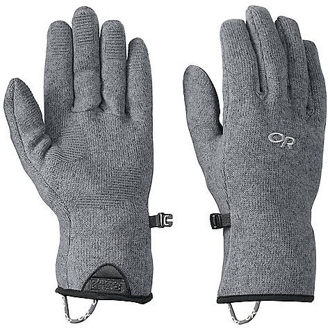 Outdoor Research Men's Longhouse Glove DECENT FEATURES of the Outdoor Research Men's Longhouse Glove Breathable Wicking Quick Drying Silicone Grip Pads on Palm and Finger Tips Leather Grab Tab at Wrist Pull Loop Glove Clip The SPECS Weight: (L, per pair): 2.5 oz / 72 g Comfort Range: 25/40deg F / -4/4deg C 100% polyester, heathered, sweater knit fleece This product can only be shipped within the United States. Please don't hate us. - $29.95