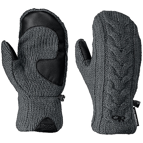 Free Shipping. Outdoor Research Women's Pinball Mittens DECENT FEATURES of the Outdoor Research Women's Pinball Mittens Windproof Breathable Wicking Quick Drying Soft and Tactile Leather Palm Posh Pile Lining Glove Clip The SPECS Weight: (M, per pair): 4.1 oz / 116 g Comfort Range: 25/40deg F / -4/4deg C 70% acrylic, 15% wool, 15% alpaca Windstopper 100% nylon back-of-hand lining This product can only be shipped within the United States. Please don't hate us. - $64.95