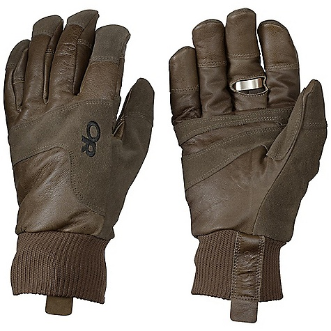 On Sale. Free Shipping. Outdoor Research Men's Blackpowder Glove DECENT FEATURES of the Outdoor Research Men's Blackpowder Glove Durable Water Resistant Wind Resistant Breathable Wicking Soft and Tactile Leather Palm Leather Overlays on Palm for Durability Leather Grab Tab at Wrist Stainless Steel Bottle Opener Tricot Lining 266g Primaloft One back of Hand, 133g Primaloft One at Palm Split Suede overlays The SPECS Weight: (L, per pair): 7.3 oz / 206 g Comfort Range: 0/20deg F / -17/7deg C 100% waxed goat leather PrimaLoft One 100% polyester insulation Rib Knit cutin. 1 Fixed Insulation Leather Palm This product can only be shipped within the United States. Please don't hate us. - $36.99