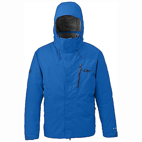 Free Shipping. Outdoor Research Men's Igneo Shell Jacket DECENT FEATURES of the Outdoor Research Men's Igneo Shell Jacket Waterproof Breathable Integrated RECCO reflector Fully seam taped Tonal seam treatment Adjustable and removable hood fits over a helmet Double-sliding pit zippers for body heat ventilation Inner lift pass pocket with drawcord key-clip attachment Removable powder skirt with Lock Down technology Thumb Drive hook/loop cuff closures The SPECS Weight: (L): 30.0 oz / 850 g Fit: Relaxed Center Back Length: 30.5in. / 78 cm Fabric: 100% nylon, 2-layer 70D Pertex Shield fabric; reversed brushed tricot lining This product can only be shipped within the United States. Please don't hate us. - $284.95