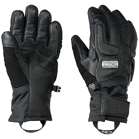 Free Shipping. Outdoor Research Women's Knuckleduster Glove DECENT FEATURES of the Outdoor Research Women's Knuckleduster Glove Insulation: 340g polyfil at back of hand; 200g at palm side Leather palm with perforated leather reinforcement panels EVA foam panels at back of hand Soft tricot lining Stylish metal rivet Soft nose wipe on thumb Glove Clip The SPECS Weight: (M, per pair): 5.8 oz / 164 g Fabric: Ventia Dry construction Shell fabrication is a mix of water-repellent leather with nylon dobby fabric featuring an outerwear print This product can only be shipped within the United States. Please don't hate us. - $78.95