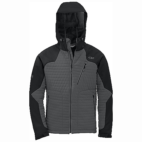 On Sale. Free Shipping. Outdoor Research Men's Lodestar Jacket DECENT FEATURES of the Outdoor Research Men's Lodestar Jacket Hybrid Mapped Construction Water Resistant Wind Resistant Breathable Movement-Mirroring Stretch Fully Adjustable Hood Fits Over Helmet Single-Separating Front Zipper Internal Front Zip Stormflap Zippered Napoleon Pocket Two Zippered Hand Pockets Hook/Loop Cuff Closures Drawcord Hem The SPECS Weight: (L): 27.5 oz / 779 g Trim Fit Center Back Length: 30in. / 76 cm Polartec Power Shield High Loft 100% nylon face; 95% polyester, 5% spandex fleece backer body Polartec Power Shield 02 100% nylon face, 100% polyester back, lower body, and under arms This product can only be shipped within the United States. Please don't hate us. - $268.99