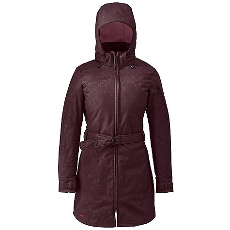 On Sale. Free Shipping. Outdoor Research Women's Covet Jacket DECENT FEATURES of the Outdoor Research Women's Covet Jacket Water Resistant Wind Resistant Breathable Fully Adjustable and Detachable Hood Brushed-Tricot-Lined Collar Two Zippered Hand Pockets Arm Pocket Snap Cuffs Thigh-Length Cut All-Over Embossed Pattern Adjustable Belt The SPECS Weight: (M): 27.7 oz / 785 g Standard Fit Center Back Length: 33 1/2in. / 85 cm 100% nylon, 40D woven face 100% polyester brushed fleece interior This product can only be shipped within the United States. Please don't hate us. - $156.99