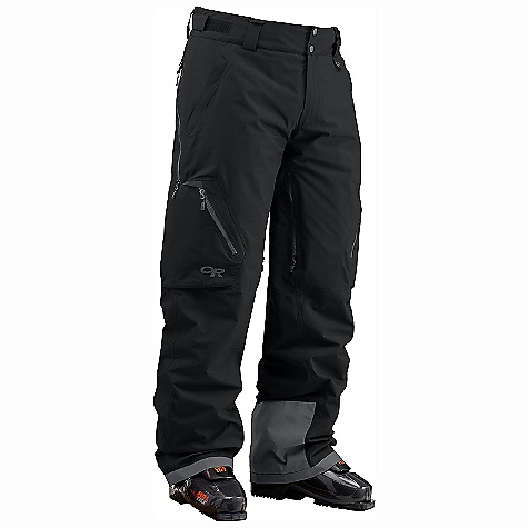 Snowboard On Sale. Free Shipping. Outdoor Research Men's Axcess Pants DECENT FEATURES of the Outdoor Research Men's Axcess Pants Waterproof Breathable Fully seam taped Tonal seam treatment Primaloft Eco insulation provides warmth; 40g seat/knees Integrated RECCO reflector Water-resistant zippers Secure avalanche beacon pocket with key clip attachment Inner and outer thigh vents for ventilation Stretch mesh internal gaiter Accepts accessory suspenders (sold separately) Compatible with LockDown-equipped jackets The SPECS 100% nylon 2L 70D GORE-TEX embossed fabric 100% polyester reversed tricot lining This product can only be shipped within the United States. Please don't hate us. - $226.99