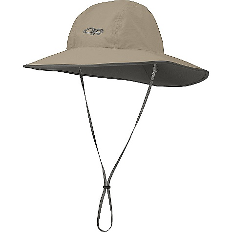 Outdoor Research Aquifer Sun Sombrero FEATURES of the Outdoor Research Aquifer Sun Sombrero Breathable Lightweight Wicking Protective SolarShield Construction UPF 50+ Foam- Stiffened Brim Floats External Drawcord Adjustment Removable Chin Cord - $39.00
