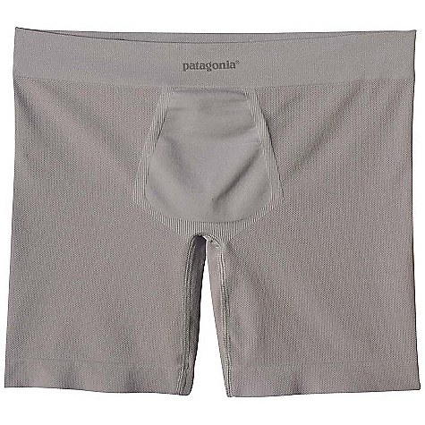 On Sale. Patagonia Men's Active Sport Boxer Brief DECENT FEATURES of the Patagonia Men's Active Sport Boxer Briefs Stretch mesh provides support while open-weave mesh breathes, wicks efficiently and dries fast Made of polyester/spandex blend Seamless construction Flat-sewn, gusseted inseam is set forward to prevent inner-thigh chafe Fly-free support The SPECS Formfitting Weight: 2.1 oz / 60 g Inseam: Medium: 6in. 4.6-oz 93% polyester (71% recycled), 7% spandex, with moisture-wicking performance This product can only be shipped within the United States. Please don't hate us. - $24.99