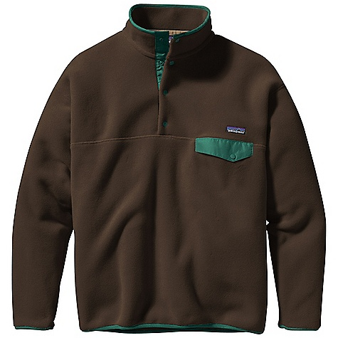 On Sale. Free Shipping. Patagonia Men's Synchilla Snap-T Pullover DECENT FEATURES of the Patagonia Men's Synchilla Snap-T Pullover Warm recycled double-faced polyester fleece Pullover with 4-snap Supplex nylon placket, a stand-up collar and Y-Joint sleeves Left chest pocket with Supplex nylon flap and snap closure Cuffs and hem have spandex trim Hip length The SPECS Relaxed fit Weight: 18.7 oz / 530 g Solids: 10.6-oz 100% polyester (86% recycled) polyester fleece Prints: 10.3-oz 100% polyester Heathers: 100% polyester (80% recycled) fleece This product can only be shipped within the United States. Please don't hate us. - $70.99