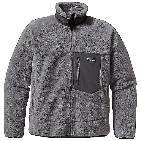 The Men's Retro-X Jacket by Patagonia's breathable/windproof P. E.F. (Performance-enhancing film or Primary Elephant Fuel as I like to think of it) barrier sits comfortably between layers of thickly piled, ecofriendly PCR Synchilla fleece and a Capilene brushed-mesh lining. This men?s fleece jacket offers a windflap behind full-front zip closure, zippered side and chest pockets. The Retro-X Jacket is ideal for lift-accessed riding, fly fishing, base camp warm up, around town, or outdoor work. This Patagonia fleece jacket has Y-joint sleeves making this a front-runner in the world of men?s fleece jackets. Yes, I would like that.Features of the Patagonia Men's Classic Retro-X Jacket Windproof membrane bonded between a recycled-polyester fleece exterior and moisture-wicking, brushed polyester-mesh interior Full-zip jacket with wind flap and Y-Joint sleeves Pockets: Vertical zippered chest pocket made of Supplex nylon zippered hand warmers lined with brushed polyester-mesh Hip length - $133.99