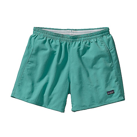 Patagonia Women's Baggies Shorts DECENT FEATURES of the Patagonia Women's Baggies Shorts Made of nylon for durability Brushed elastic waistband with draw cord Pockets lined with polyester mesh for drainage The SPECS Regular fit Inseam: 5in. 4.2-oz 100% Supplex nylon with DWR (durable water repellent) finish This product can only be shipped within the United States. Please don't hate us. - $49.00