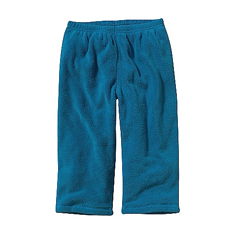 On Sale. Patagonia Baby Plush Synchilla Pants (Fall 2010) FEATURES of the Baby Plush Synchilla Pants by Patagonia Elasticized waistband Contrast topstitching on all seams Open, fold-over cuffs Recyclable polyester fleece is soft and provides warmth Relaxed with open leg for comfortable fit SPECIFICATIONS: Weight: 147 g (5.2 oz) Fabric: 9.8-oz. double-sided microdenier polyester fleece Recyclable through the Common Threads Recycling Program This product can only be shipped within the United States. Please don't hate us. - $11.99