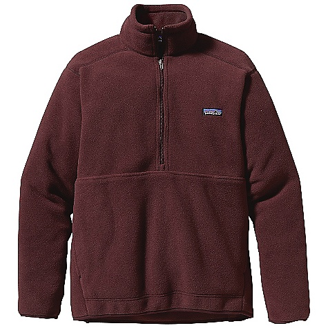 On Sale. Free Shipping. Patagonia Men's Synchilla Marsupial DECENT FEATURES of the Patagonia Men's Synchilla Marsupial Made of Two Fleece Fabrics: The body is recycled polyester Synchilla fleece the yoke (front and back) is recycled polyester twill fleece Pullover 1/4-zip with large kangaroo-pouch hand warmer pocket and Y-Joint sleeves Large kangaroo-pouch hand warmer pocket lined with 100% brushed polyester mesh Hip length The SPECS Regular fit Weight: 15.8 oz / 448 g Body, under arm panels and inner Collar: 8-oz 100% polyester (85% recycled) double face fleece Yoke, outer collar and outer arm Panels: 8-oz 100% recycled polyester twill fleece This product can only be shipped within the United States. Please don't hate us. - $68.99