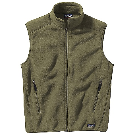 On Sale. Free Shipping. Patagonia Men's Synchilla Vest DECENT FEATURES of the Patagonia Men's Synchilla Vest Midweight recycled double-faced polyester fleece Full-zip vest with stand-up collar Two zippered hand warmer pockets Elasticized binding on armholes and hem Hip Length The SPECS Regular fit Weight: 10.4 oz / 295 g Solids: 8-oz 100% polyester (85% recycled) fleece Heathers: 8-oz 100% polyester (80% recycled) fleece This product can only be shipped within the United States. Please don't hate us. - $50.99