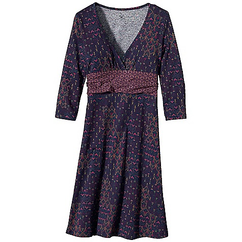 Entertainment On Sale. Free Shipping. Patagonia Women's Long-Sleeved Margot Dress DECENT FEATURES of the Patagonia Women's Long-Sleeved Margot Dress Soft organic cotton with stretch for mobility Deep V-neck with crossover detail Shirred underbust band lends support and style 3/4-length sleeves A-line hem falls above the knee The SPECS 6.2-oz 95% organic cotton, 5% spandex Weight: 9.4 oz / 266 g This product can only be shipped within the United States. Please don't hate us. - $40.99