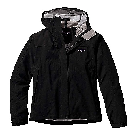 On Sale. Free Shipping. Patagonia Women's Storm Jacket DECENT FEATURES of the Patagonia Women's Storm Jacket 2-layer 100% recycled polyester shell with a waterproof/breathable H2No barrier and Deluge DWR (durable water repellent) finish for storm protection; interior hanging mesh and taffeta liner for greater comfort; shoulder and elbow reinforcements for durability 2-way-adjustable hood; soft chamois chin guard Center-front zip with storm flap seals out water Pit zips with storm flaps Pockets: Two hand warmers have watertight, coated zippers with storm flaps, one left chest under the center-front storm flap; one internal security pocket Elastic cuffs secure with self-fabric tab Draw cord hem Regular fit The SPECS Weight: 27 oz / 765 g Fabric: Shell: 2-layer, 4.4-oz 75-denier 100% recycled polyester double ripstop with a waterproof/breathable H2No barrier and a Deluge DWR finish Reinforcements: 2-layer, 7.8-oz 150-denier 100% recycled polyester canvas with an H2No barrier and a Deluge DWR finish Shell and reinforcements have a waterproof/breathable H2No barrier and a Deluge DWR (durable water repellent) finish Lining: 2.3-oz 75-denier 100% polyester (52% recycled) taffeta This product can only be shipped within the United States. Please don't hate us. - $160.99